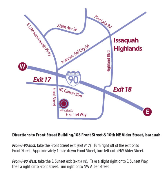 Map to Front Street Building